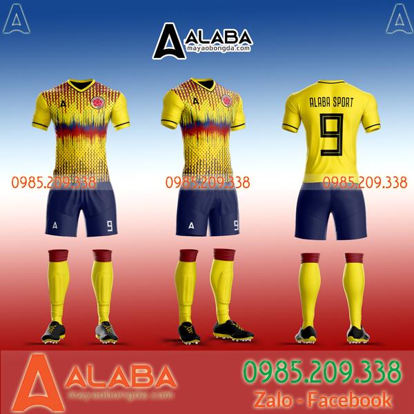 Áo Colombia màu vàng
