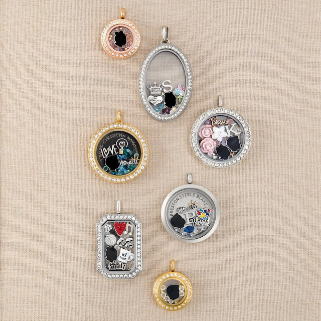Origami Owl Silhouette Charms of your children available at StoriedCharms.com