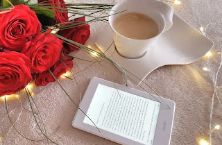 Image: Coffee, Roses, and my Kindle, by katja512 on Pixabay