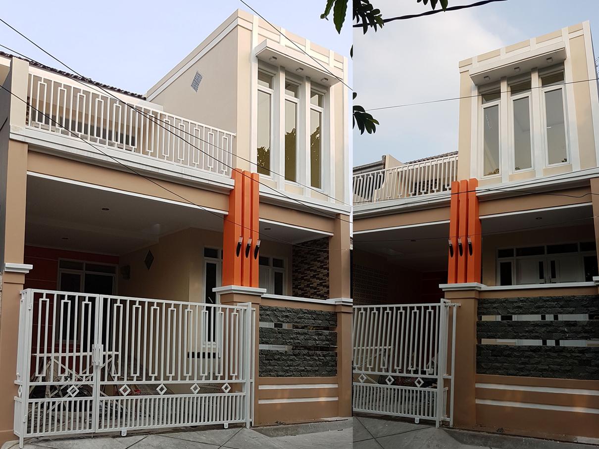 Hasil proyek renovasi total rumah 2 Lantai milik Bpk Simon Robertus Y.A & Ibu Erni di jalan Drupada V Perumahan Indraprasta, Bogor, Tahun 2019