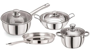 Pristine Tri Ply Stainless Steel Cookware Set