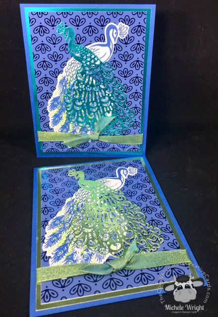 Card, Royal Peacock, Detailed Peacock, Clean & Simple