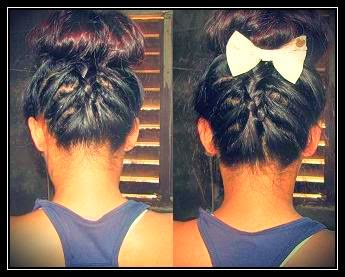 Upward Dutch Braid with a Bun