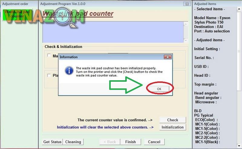 Sửa lỗi tràn bộ đếm mực thải máy in Epson