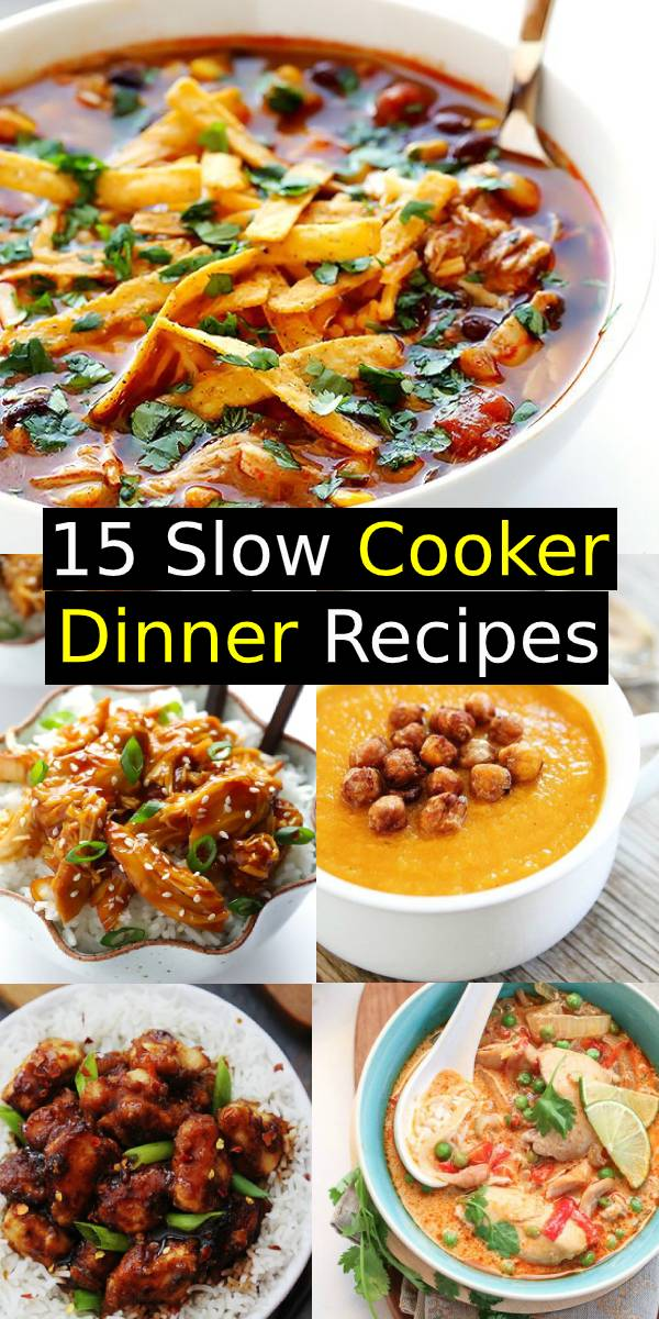 15 Slow Cooker Dinner Recipes | These one-pot dishes are perfect week night go-to's because they practically make themselves. #slowcooker #dinner #onepot #crockpot #maindish