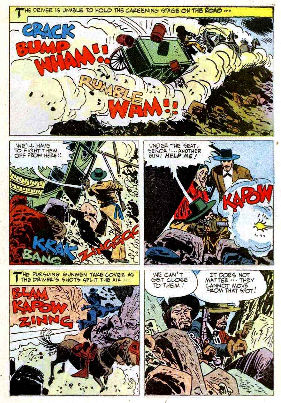 Zorro #12 1960s dell comic book page art by Alex Toth
