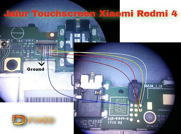 Jalur touchscreen xiaomi redmi 4X