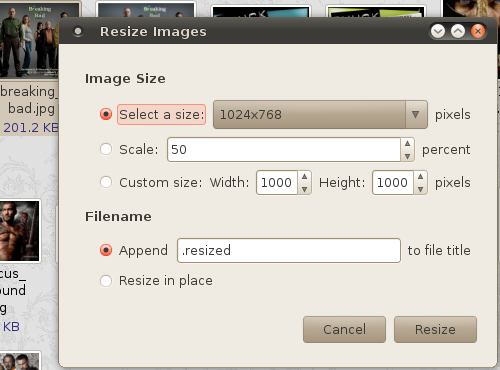 How to easily resize images? ย่อรูปภาพบน Linux Ubuntu