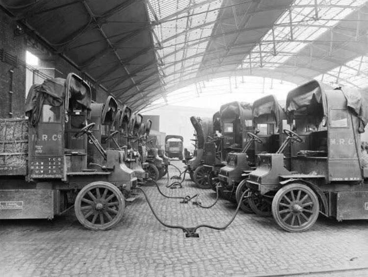 Зарядка элетромобилей. Лондон, 1907