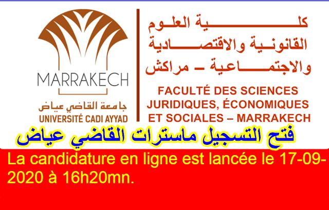 فتح التسجيل في ماستر بكلية مراكش القاضي عياض 2020/2012