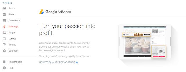 Cara Menampilkan Menu AdSense