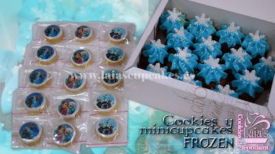 cookies galletas cupcakes mini impresión comestible fondant personalizados frozen mesa dulce laia's cupcakes puerto sagunto