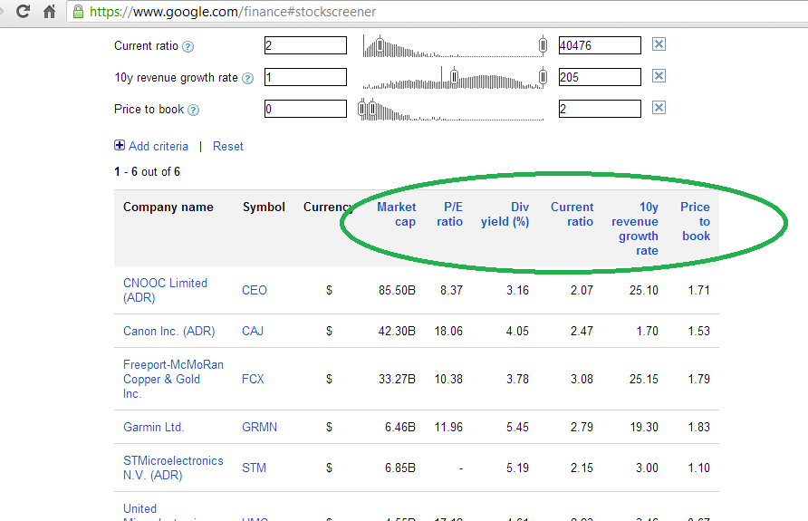 In search of values - a Google Finance approach #2 |