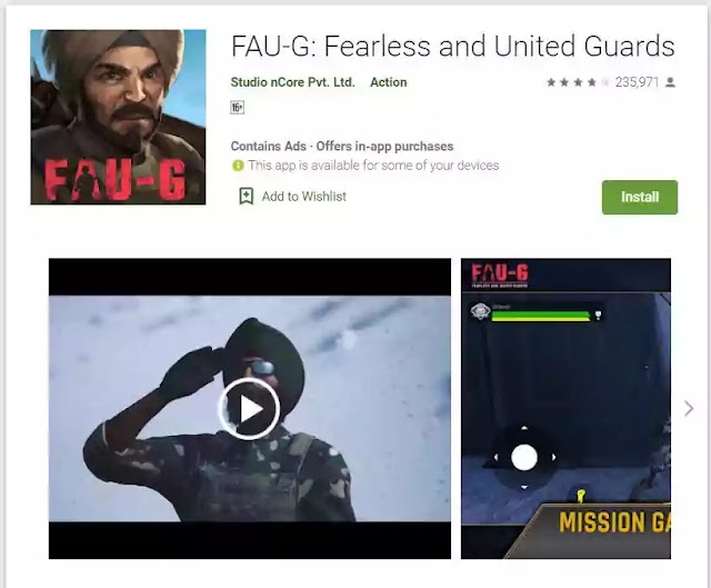 How to Download FAU-G ( Fauji) Game in Android (apk, playstore), Direct Link
