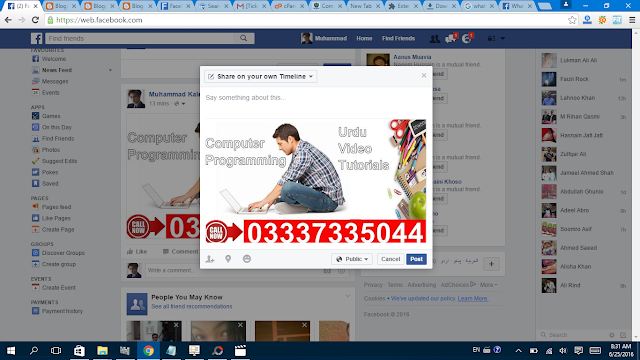 Share Facebook Post timeline