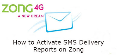 Zong Delivery Report - How to Activate SMS Delivery Reports on Zong