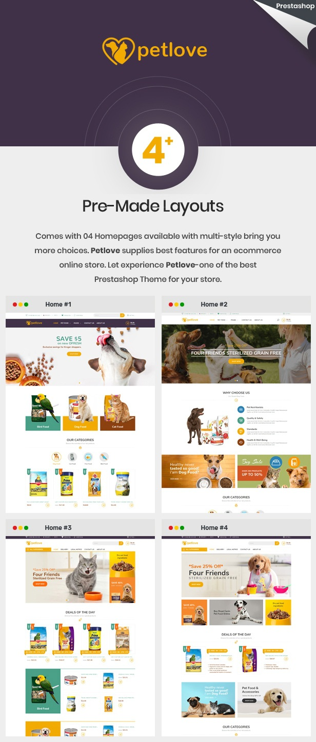 Pet Food Store Responsive Prestashop Theme