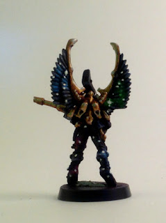 WIP 40k eldar swooping hawk test model - back