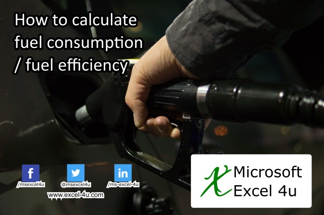 How to find fuel consumption/fuel efficiency in excel