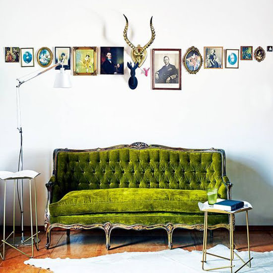 Safari Fusion blog >< A green seat | Old world charm with a green antique French daybed in a Cape Ducth home, Babylonstoren South Africa