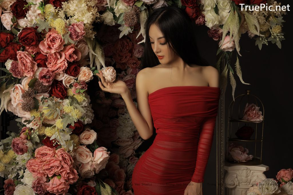 Image Vietnamese Model - Beautiful Girl and Flowers - TruePic.net - Picture-2