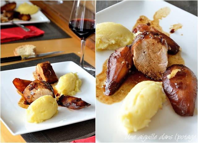 filet mignon-porc-poires-miel-cinq parfums