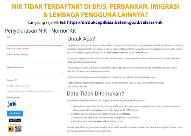Solusi NIK KTP-el Tidak Terdaftar di BPJS, Perbankan, Imigrasi dan Lembaga Lainnya