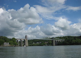 Menai Suspension Bridge, Menai Strait, Wales