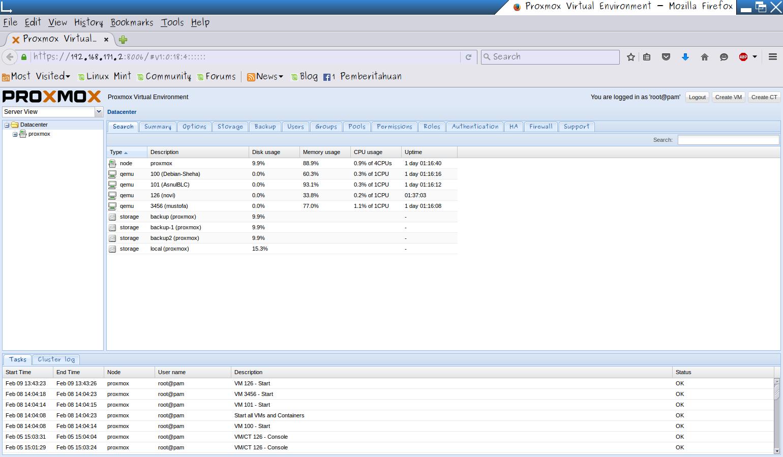Backup VM Pada Proxmox Server - Asnul Dwi Wahyu