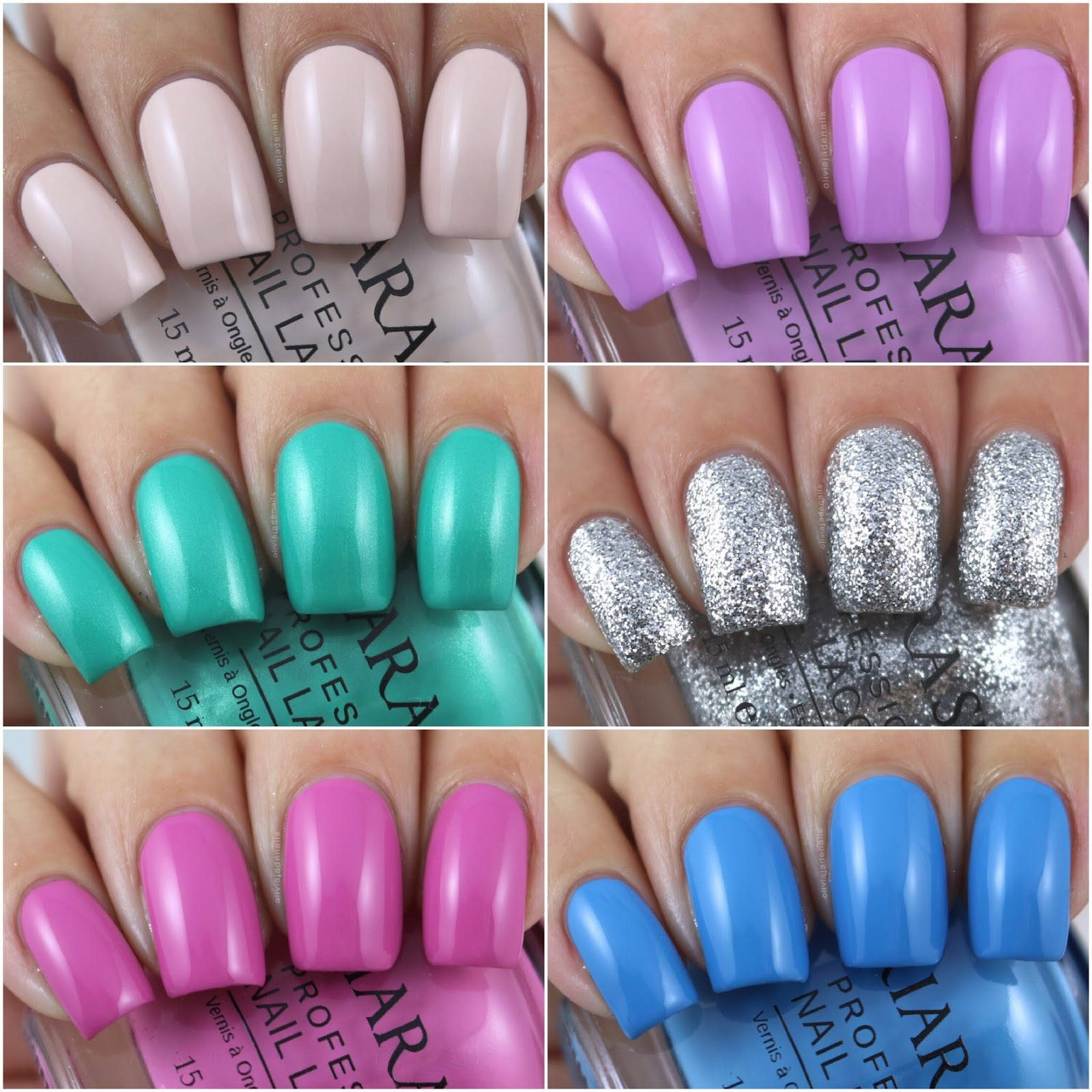 Olivia Jade Nails: Kiara Sky Professional Nails Mixed Swatches & Review