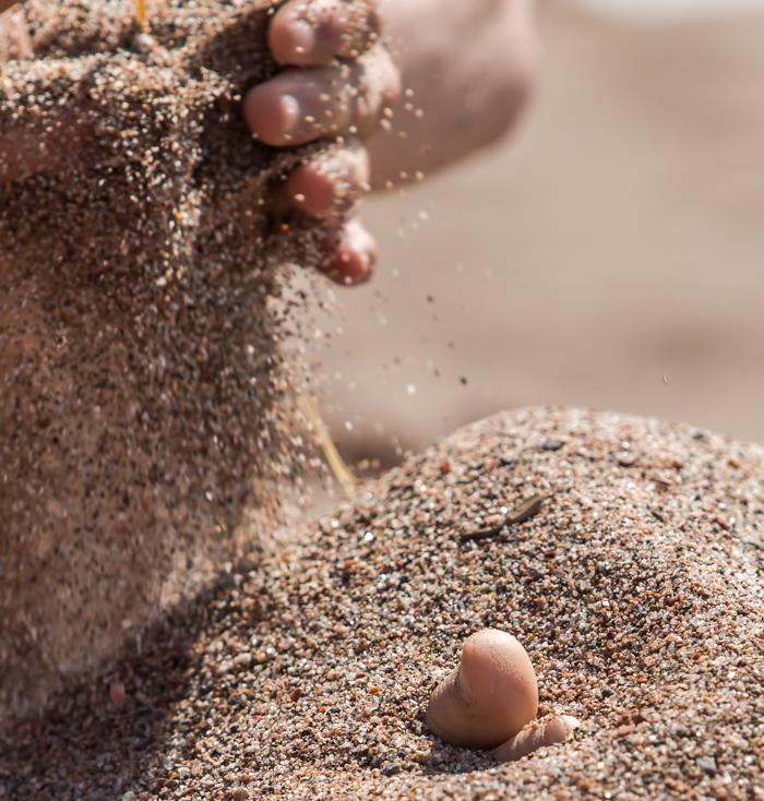 varvas hiekassa