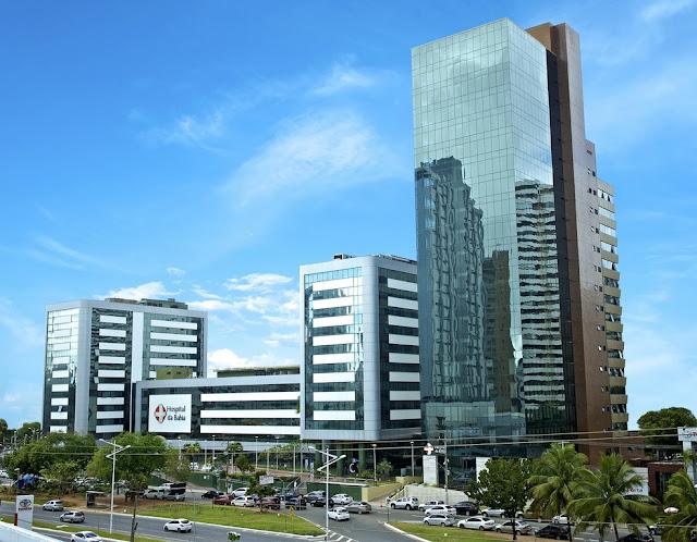 Fachada Hospital da Bahia, que foi vendido para rede integrada de Saúde — Foto: Peu Accioly