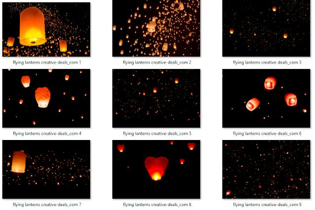 Flying Lanterns Overlay