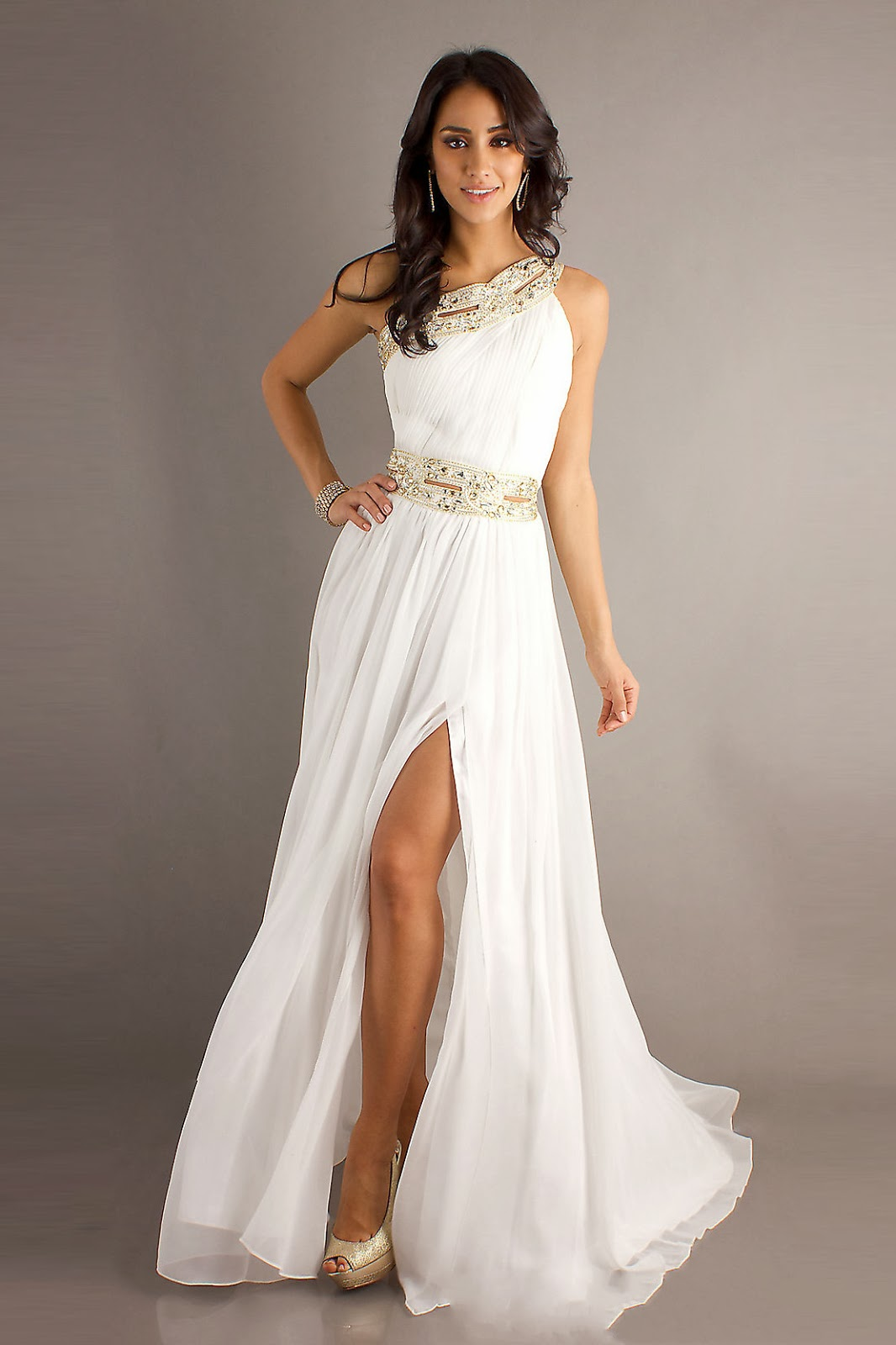 White Dress Pictures: Beautiful White Prom Dresses