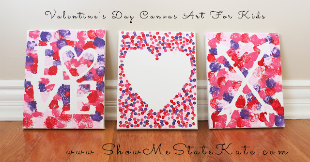 canvas craft ideas for kids show me state kate 5984