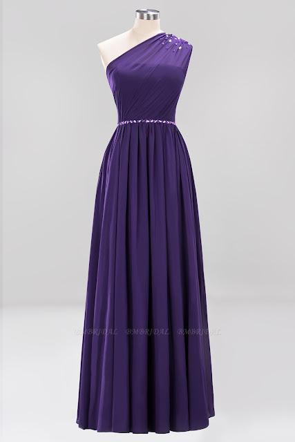 Vestidos Roxo Para Damas de Honra