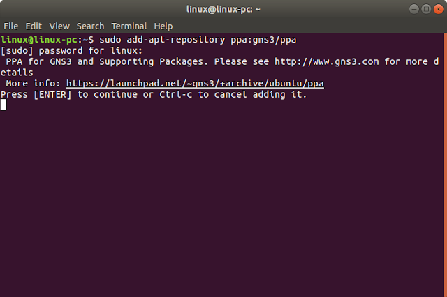 Add ppa gns3 ubuntu Linux