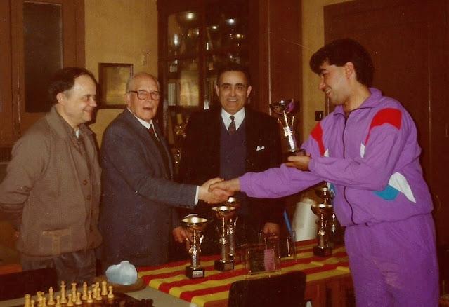 Entrega de premios en 1990