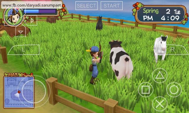 harvest moon hero of leaf valley psp game working barnley farm