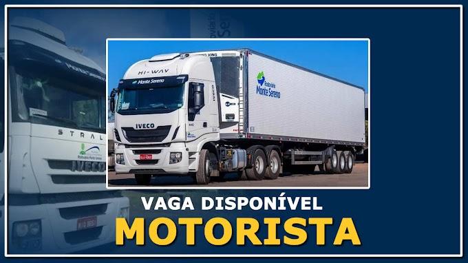 Transportadora Monte Sereno abre vagas para Motorista Carreteiro