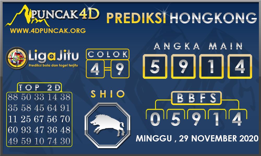 PREDIKSI TOGEL HONGKONG PUNCAK4D 29 NOVEMBER 2020