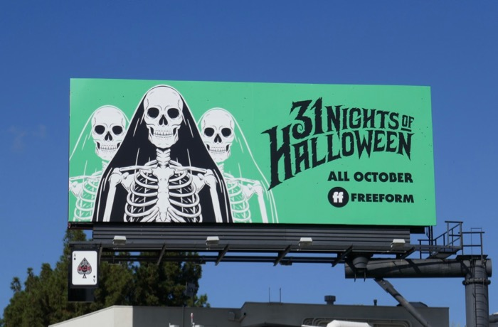 Freeform 31 Nights Halloween Skeletons billboard