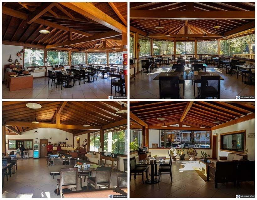 Salão do café da manhã na Pousada Campos dos Holandeses - Onde ficar em Campos do Jordão