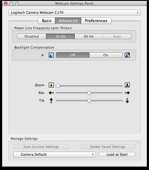 Mactaris: Logitech Webcam C170 on Mac OS X