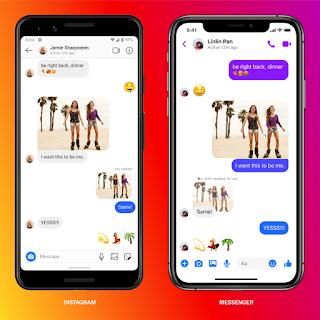 Beberapa fitur baru Messenger ke direct message Instagram