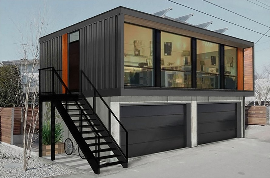 Plans building prefab shipping container home container home for Prefabricated shipping container homes