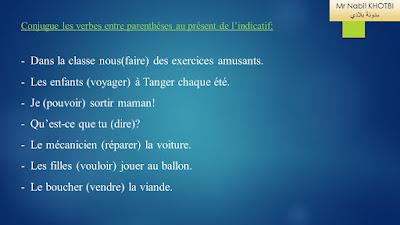 exercices conjugaison 6