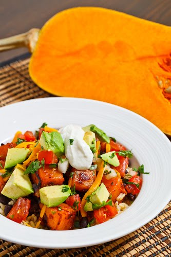 Chipotle Butternut Squash and Black Bean Burrito Bowl