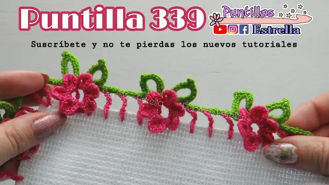 Tutorial Puntilla Flor a Crochet Paso a Paso