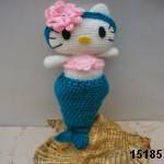 patron gratis hello kitty sirena amigurumi, free amiguru pattern mermaid hello kitty